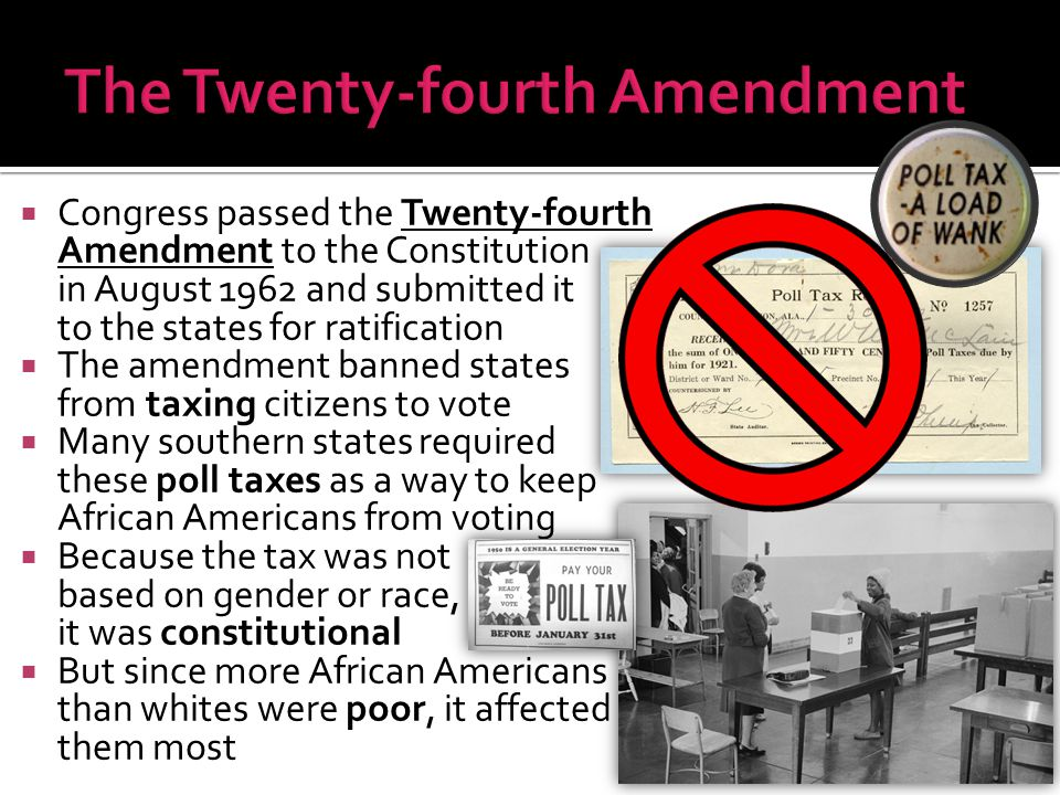 The Twenty-fourth Amendment
