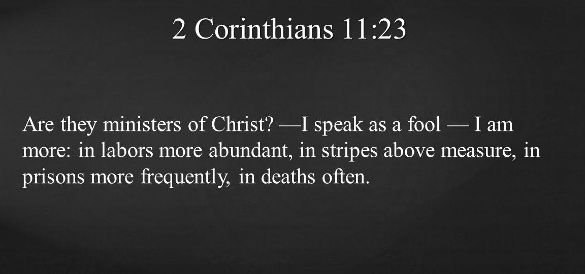2 Corinthians 11:23