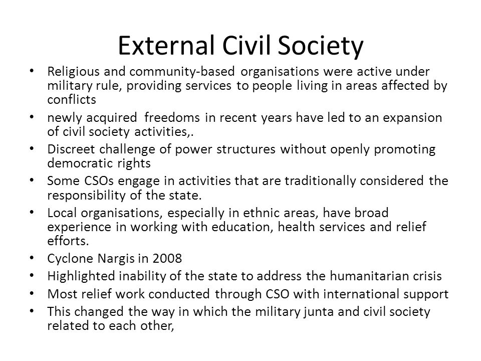 External Civil Society
