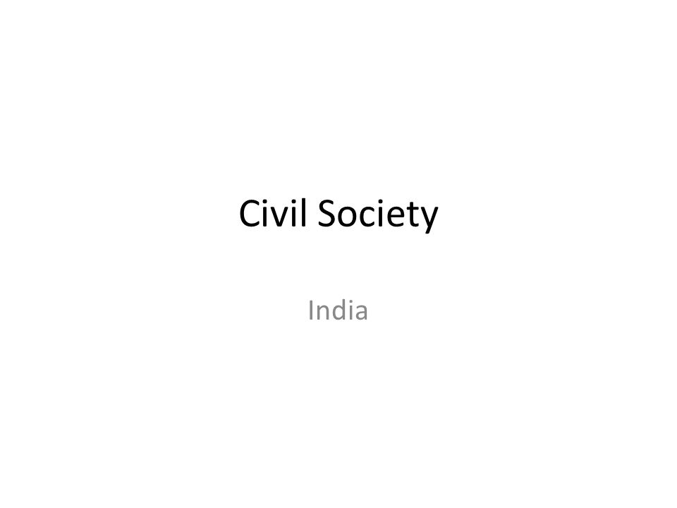 Civil Society India