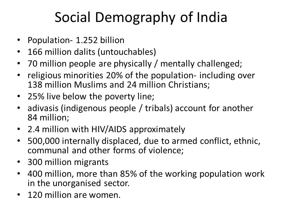 Social Demography of India