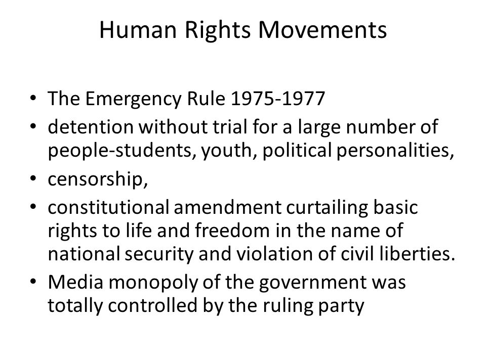 Human Rights Movements