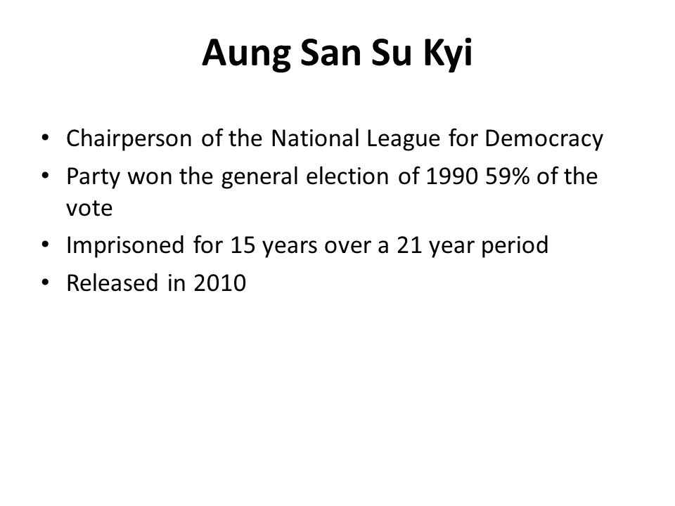 Chairperson of the National League for Democracy