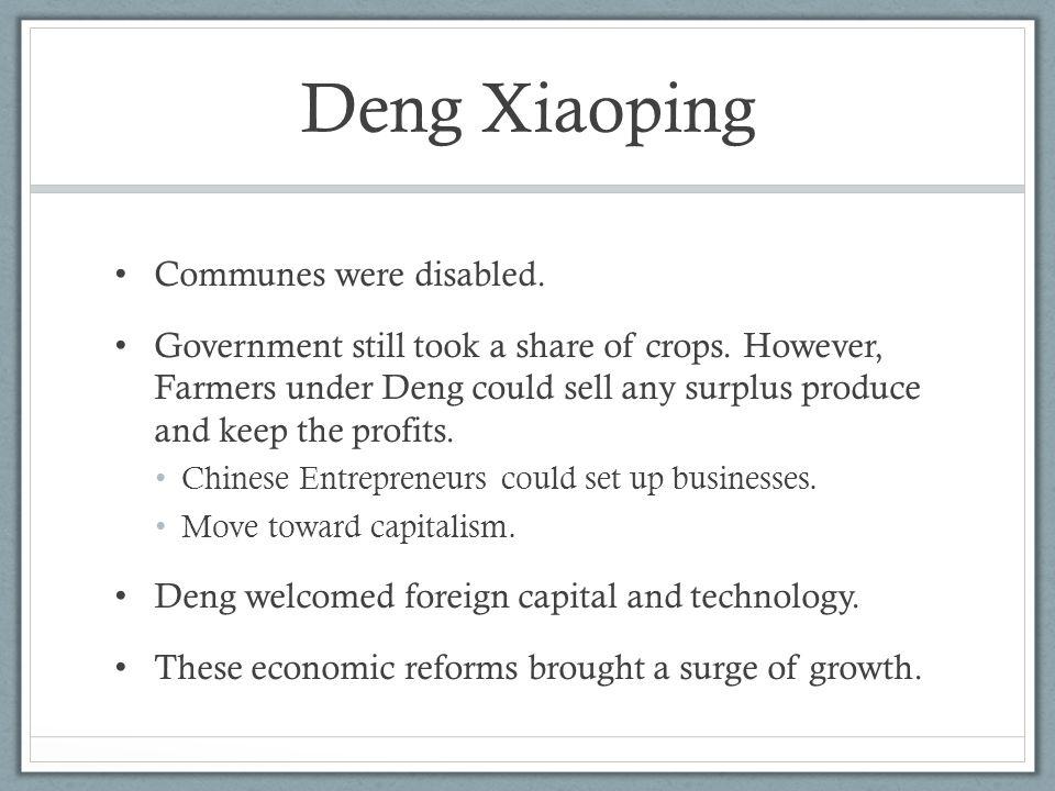 Deng Xiaoping Communes were disabled.