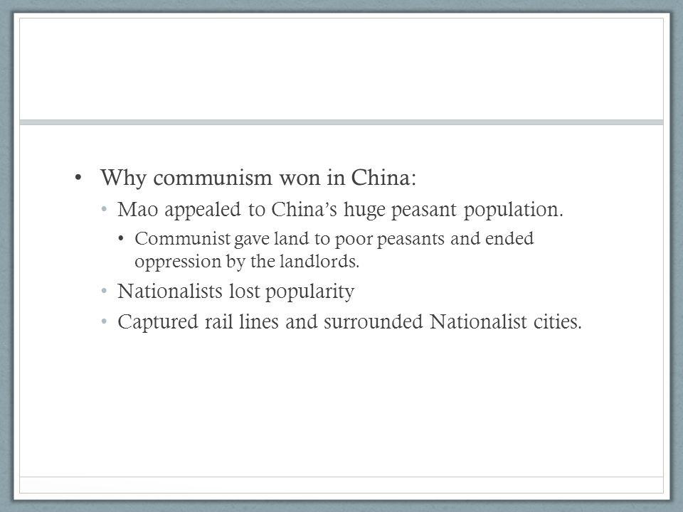 Why communism won in China: