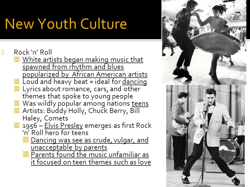 New Youth Culture Rock 'n' Roll