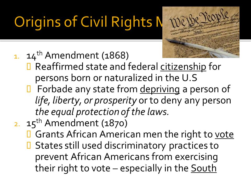 Origins of Civil Rights Movement