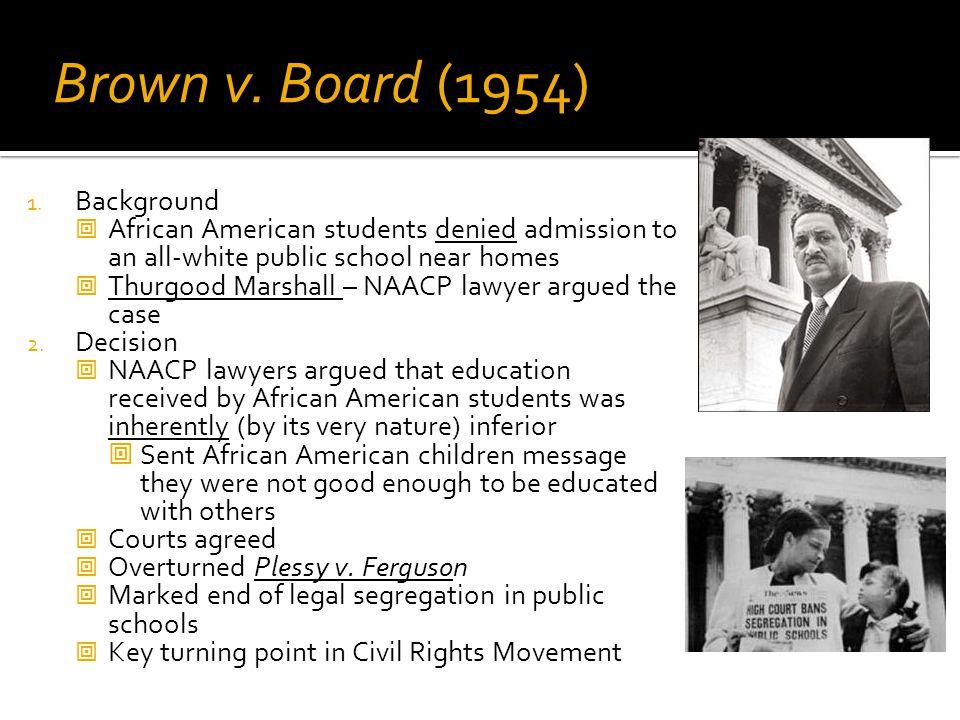 Brown v. Board (1954) Background