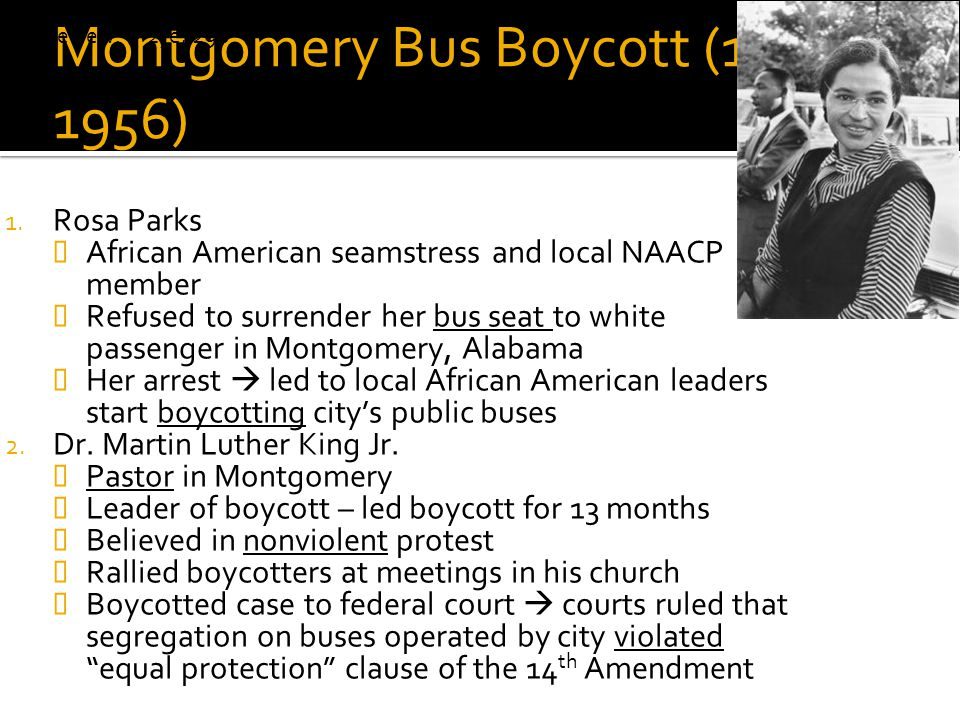 Montgomery Bus Boycott (1955-1956)