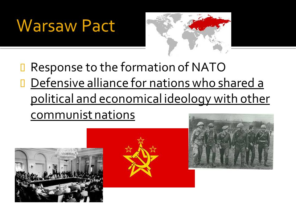 Warsaw Pact Response to the formation of NATO