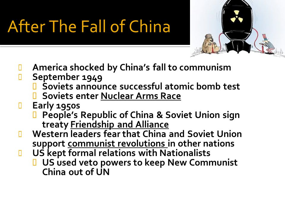 After The Fall of China America shocked by China's fall to communism