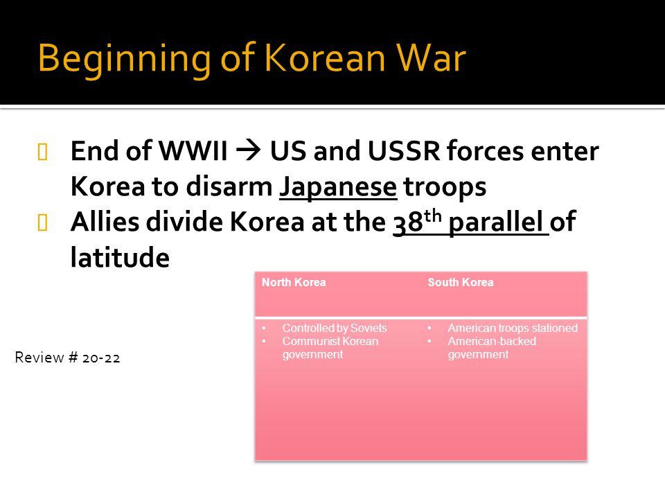 Beginning of Korean War