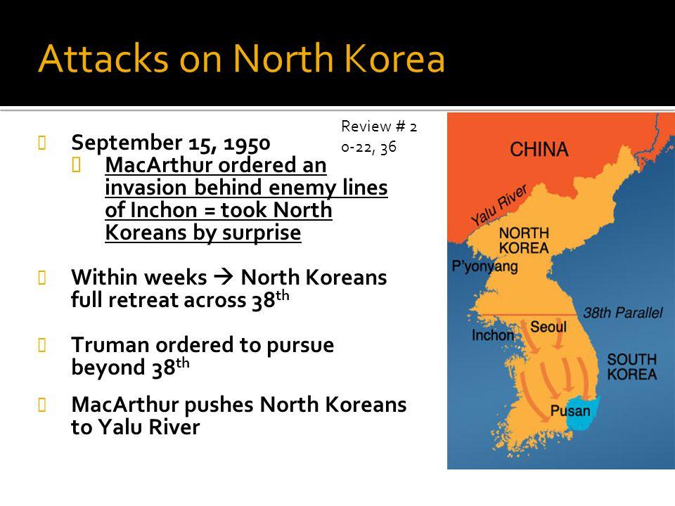 Attacks on North Korea September 15, 1950