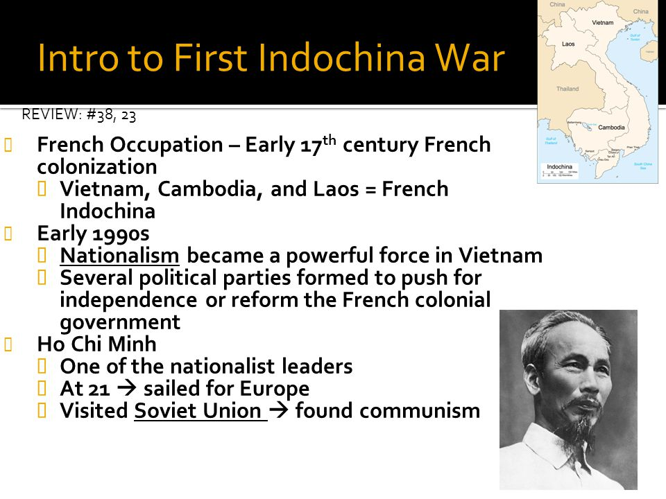 Intro to First Indochina War