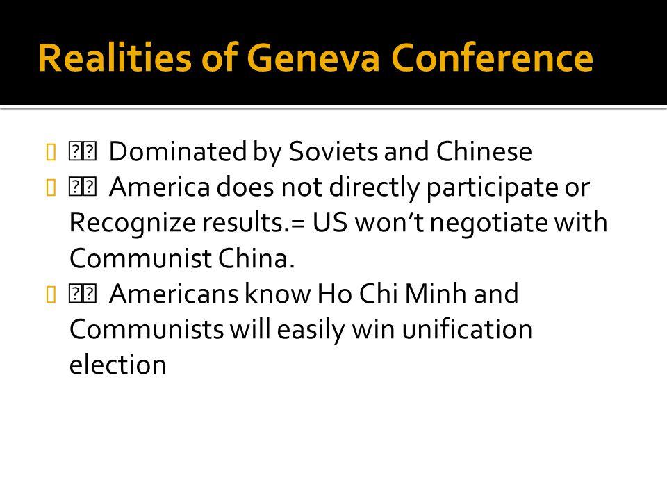 Realities of Geneva Conference