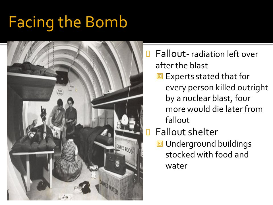 Facing the Bomb Fallout- radiation left over after the blast