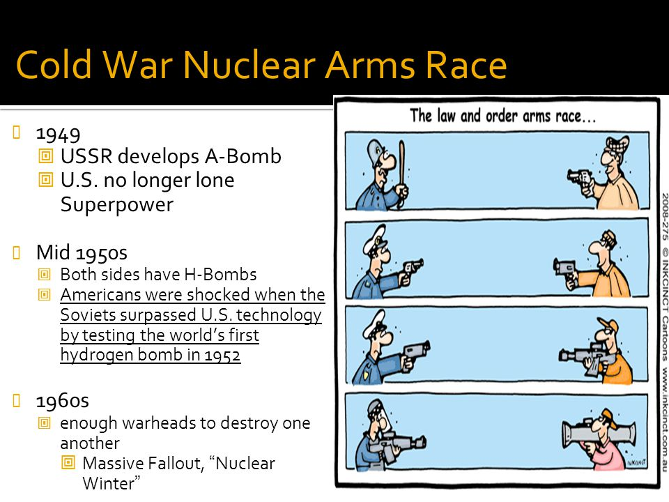 nuclear arms race essay example The prisoners' dilemma and the problem arms races provide a good example of the the united states and the soviet union engage in a nuclear arms race even.