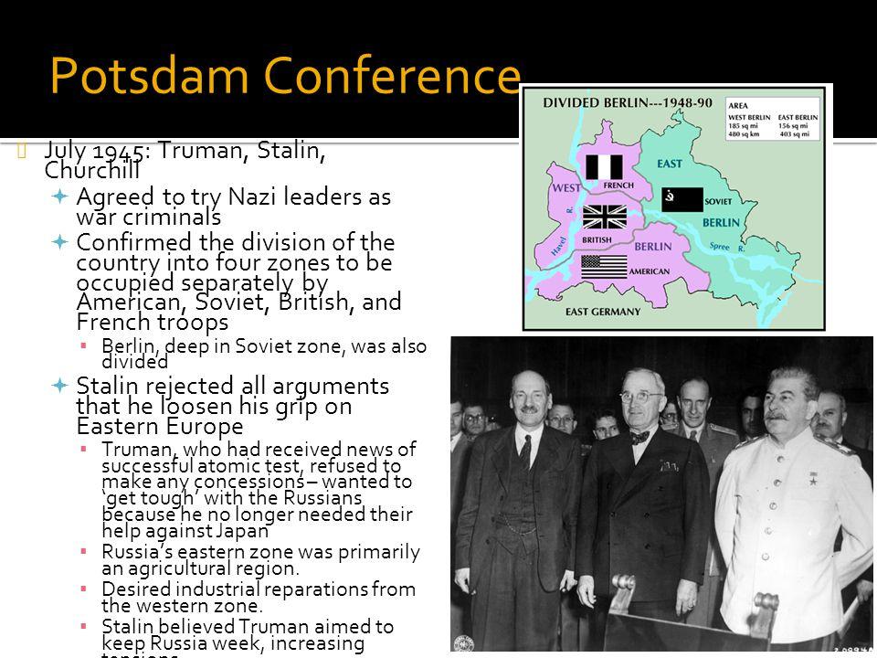 Potsdam Conference July 1945: Truman, Stalin, Churchill