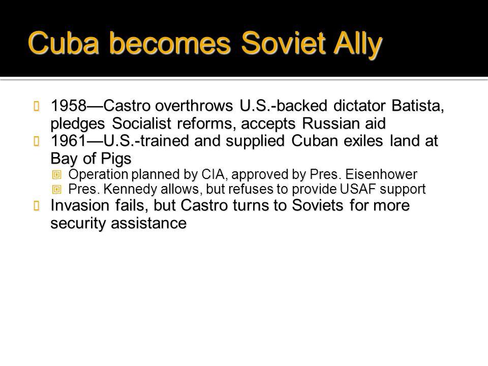 Cuba becomes Soviet Ally