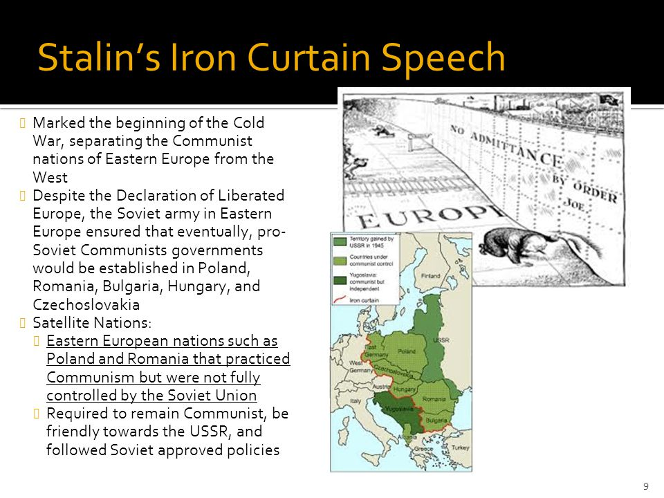 Stalin's Iron Curtain Speech