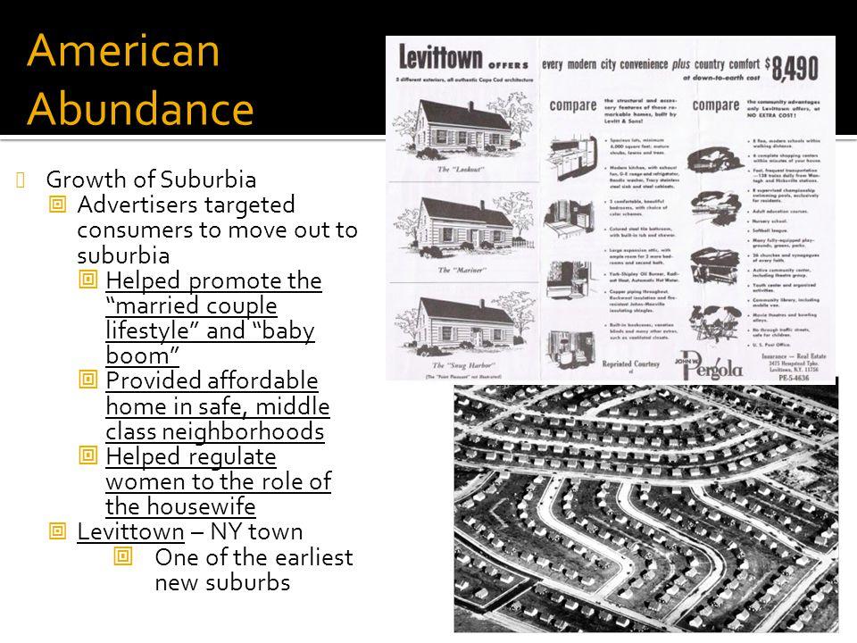 American Abundance Growth of Suburbia