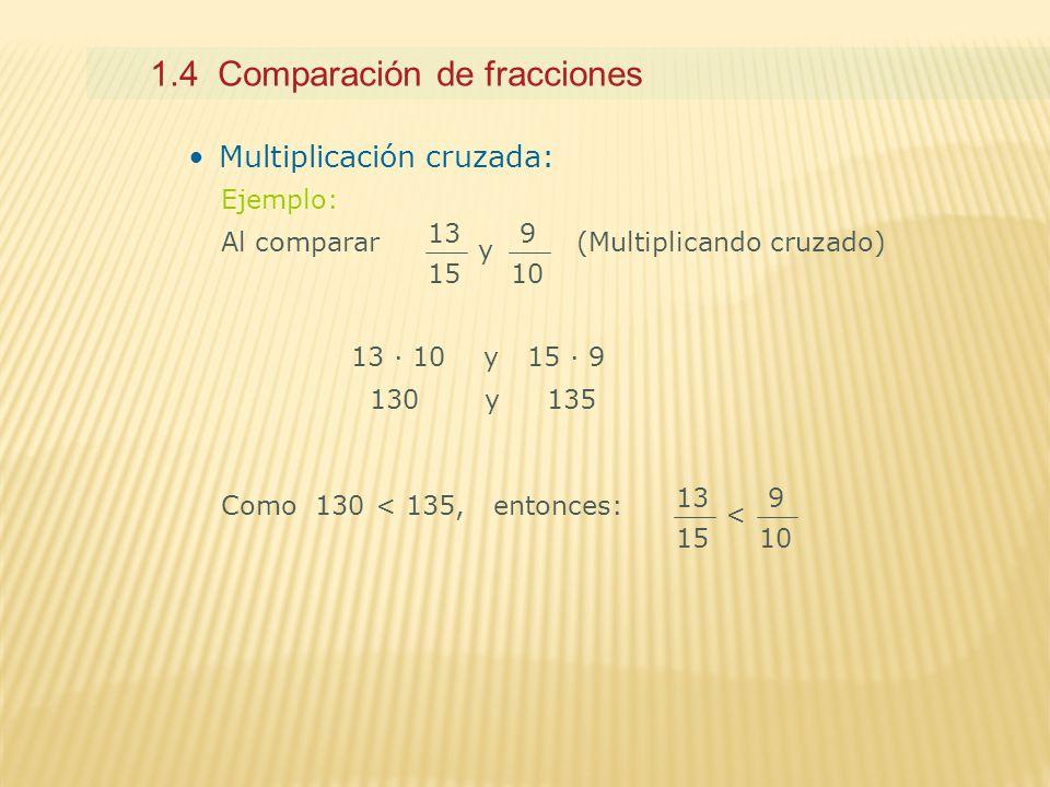 1.4 Comparación de fracciones