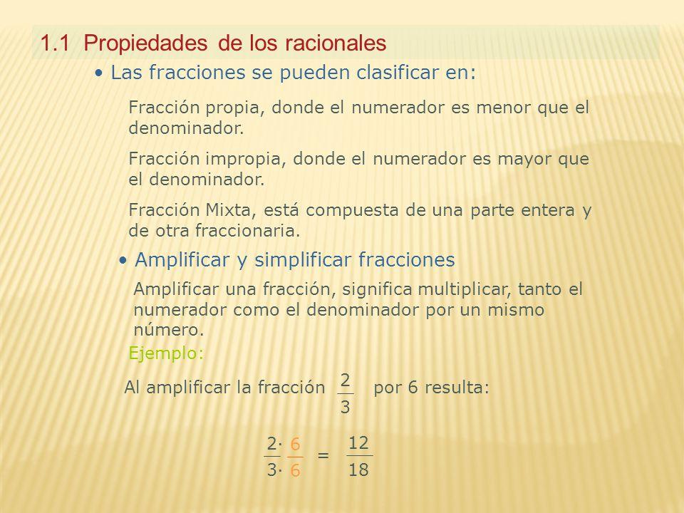 1.1 Propiedades de los racionales