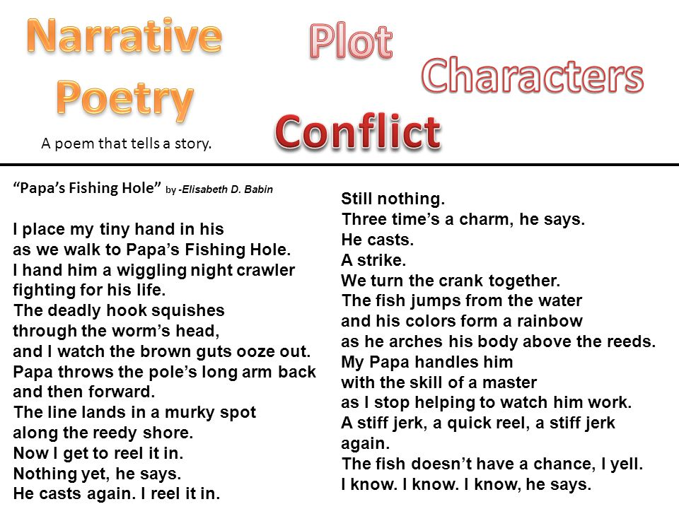 Narrative Poetry Plot Characters Conflict