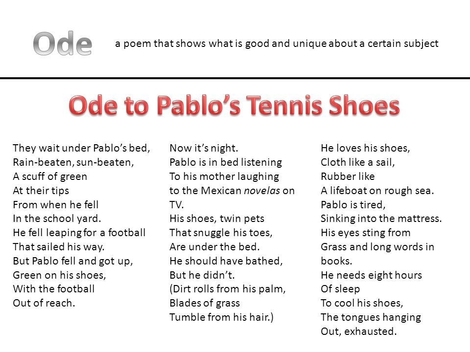Ode to Pablo's Tennis Shoes