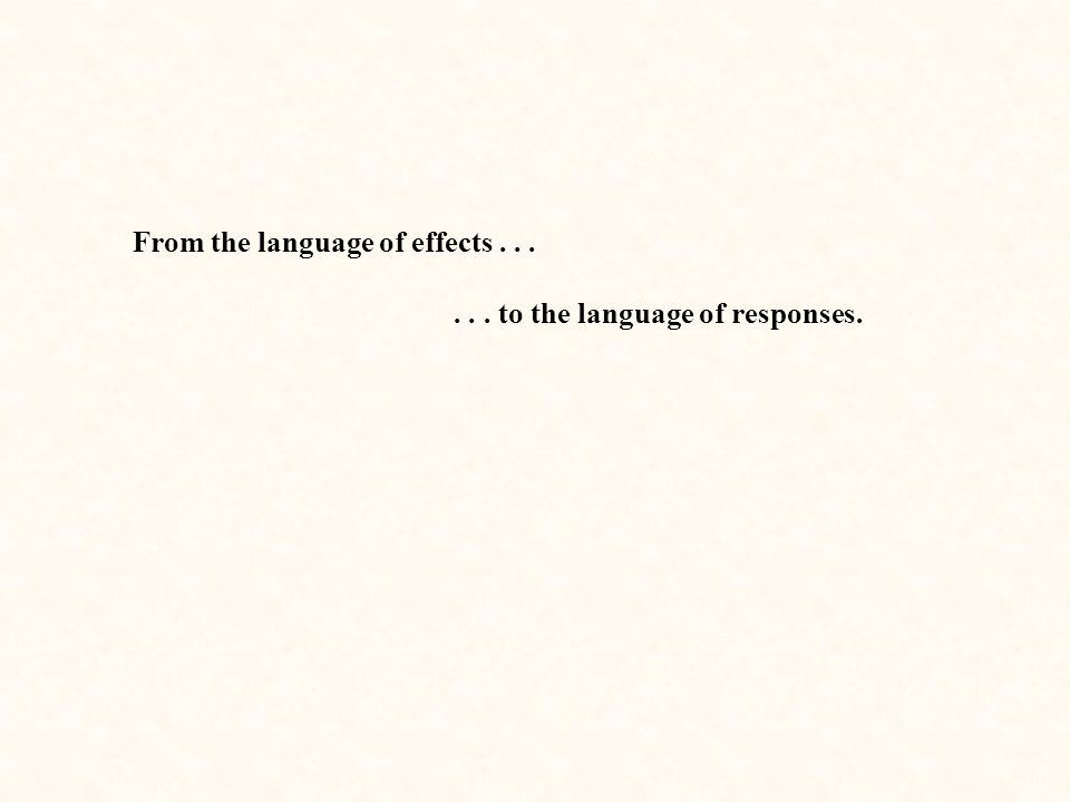 From the language of effects . . .