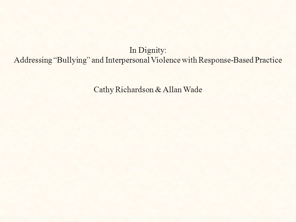 Cathy Richardson & Allan Wade