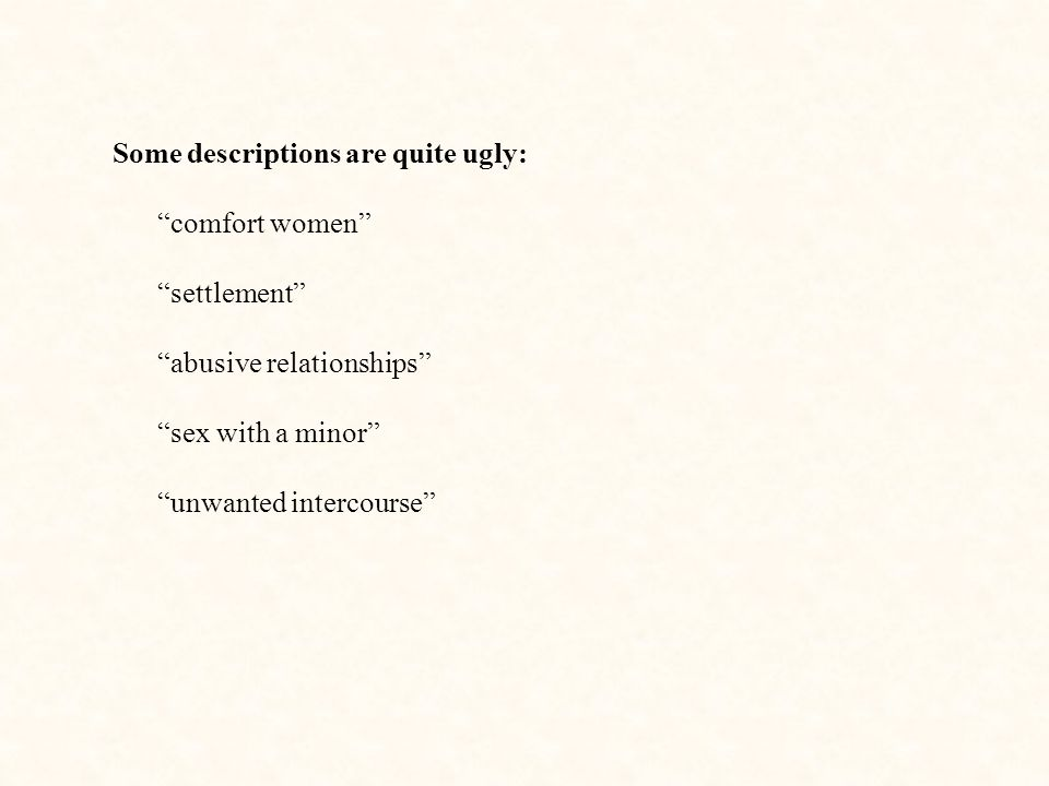 Some descriptions are quite ugly: