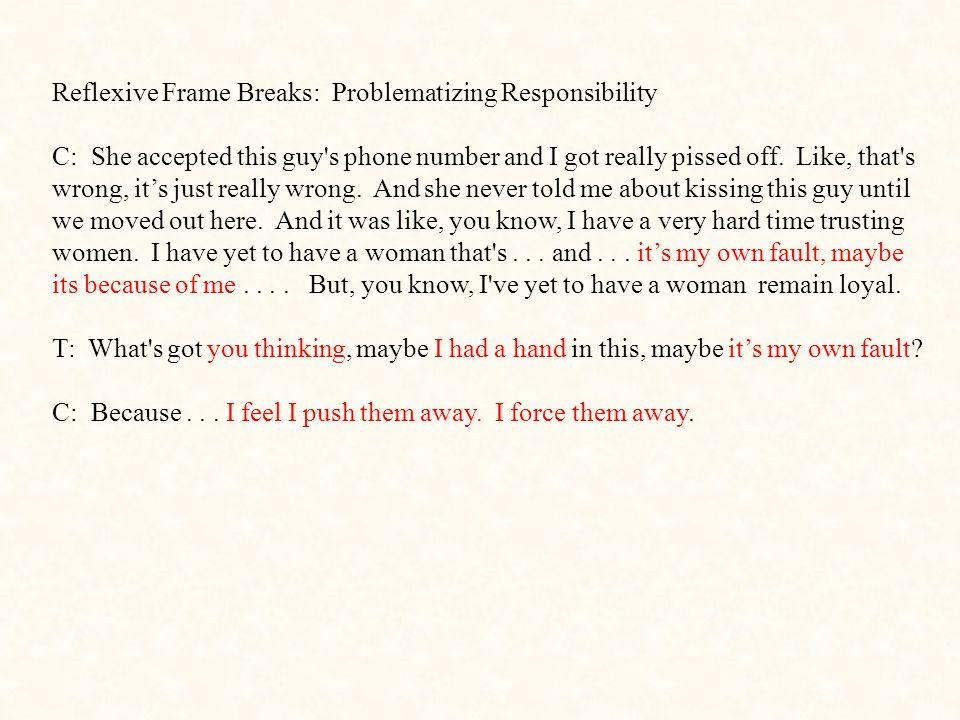 Reflexive Frame Breaks: Problematizing Responsibility
