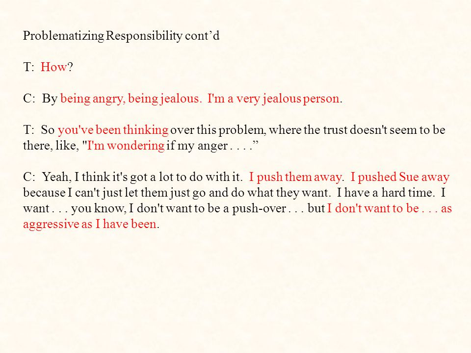 Problematizing Responsibility cont'd