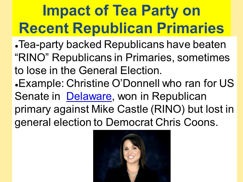 Impact of Tea Party on Recent Republican Primaries