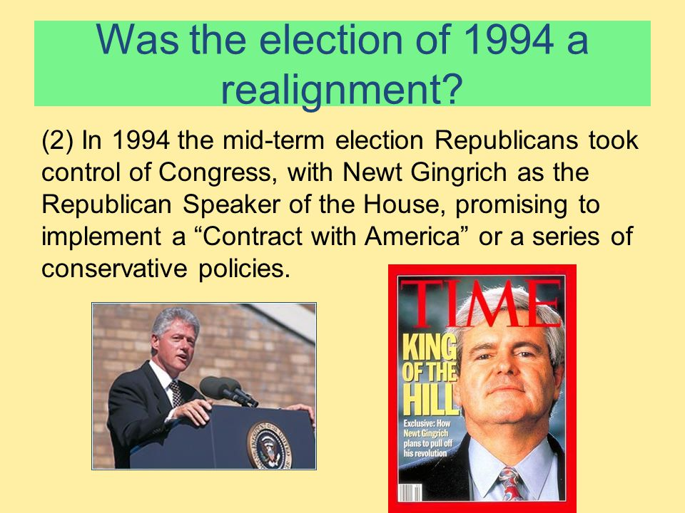 Was the election of 1994 a realignment