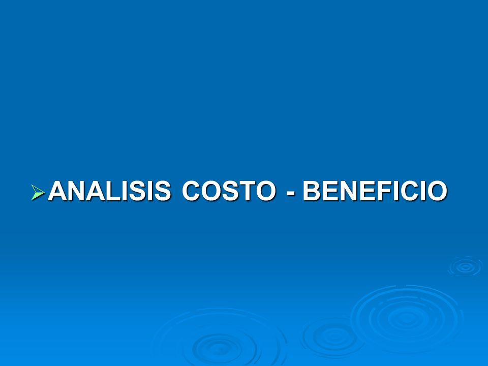 ANALISIS COSTO - BENEFICIO
