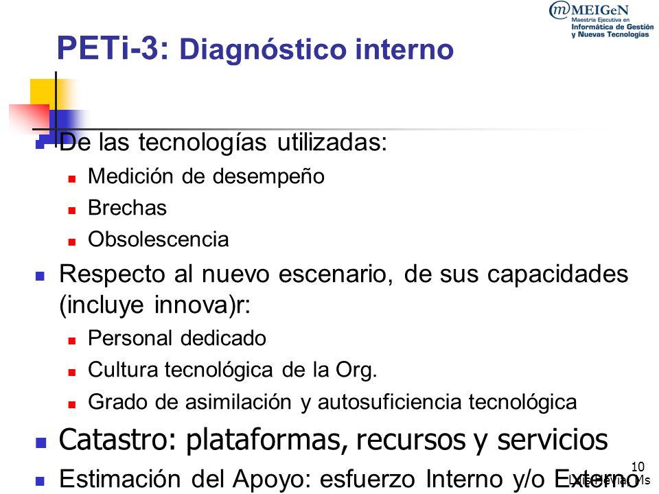 PETi-3: Diagnóstico interno