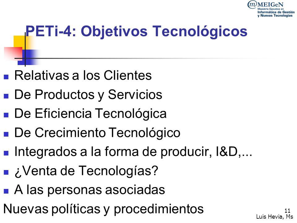 PETi-4: Objetivos Tecnológicos