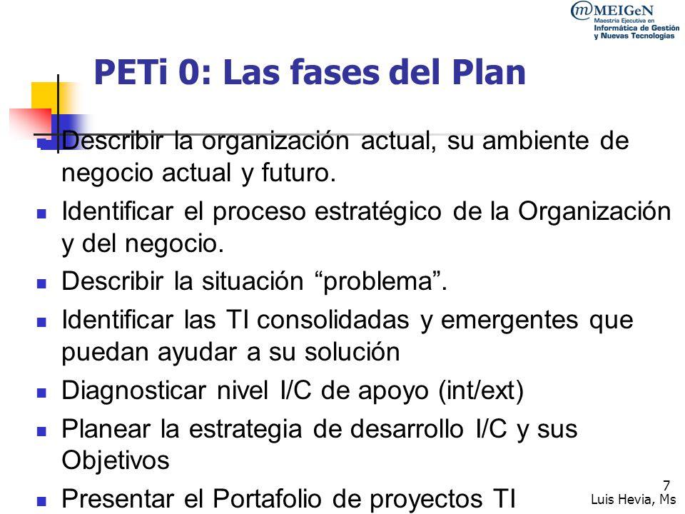 PETi 0: Las fases del Plan