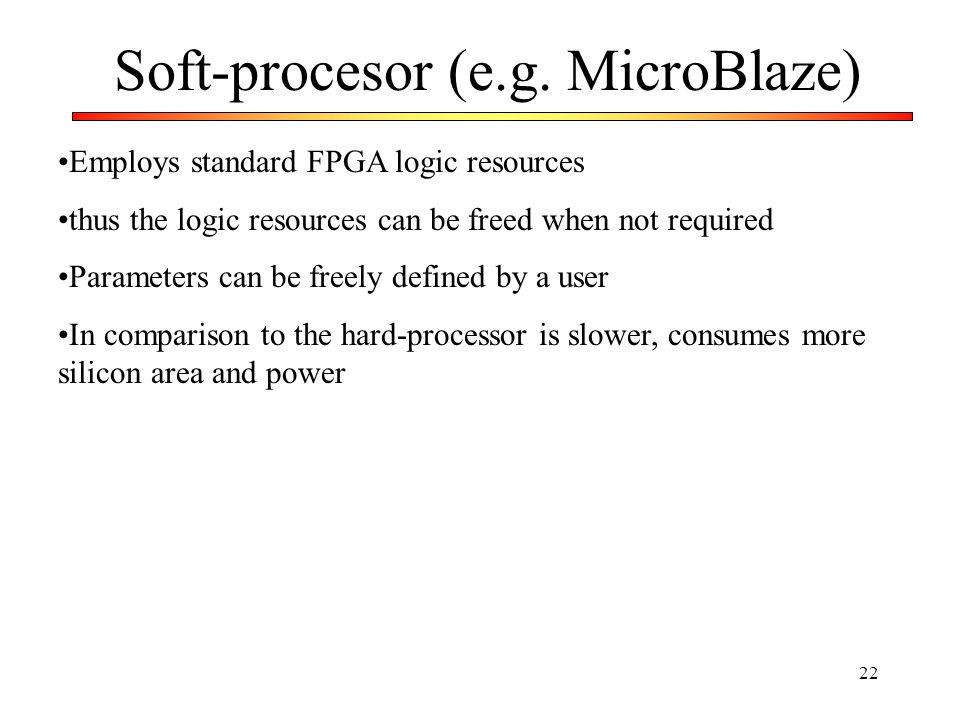Soft-procesor (e.g. MicroBlaze)