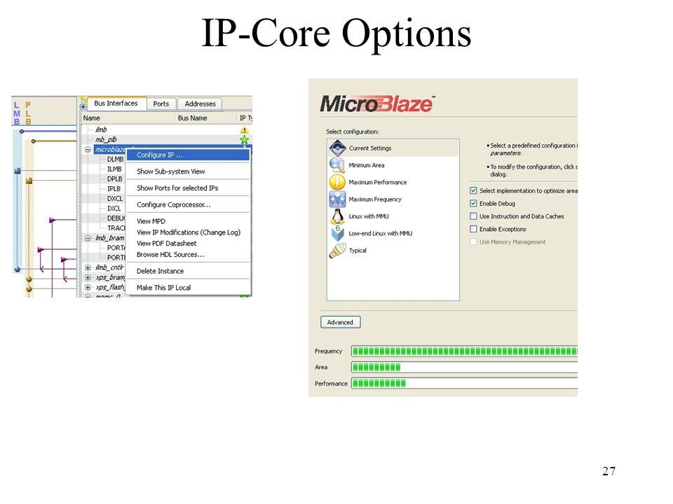 IP-Core Options