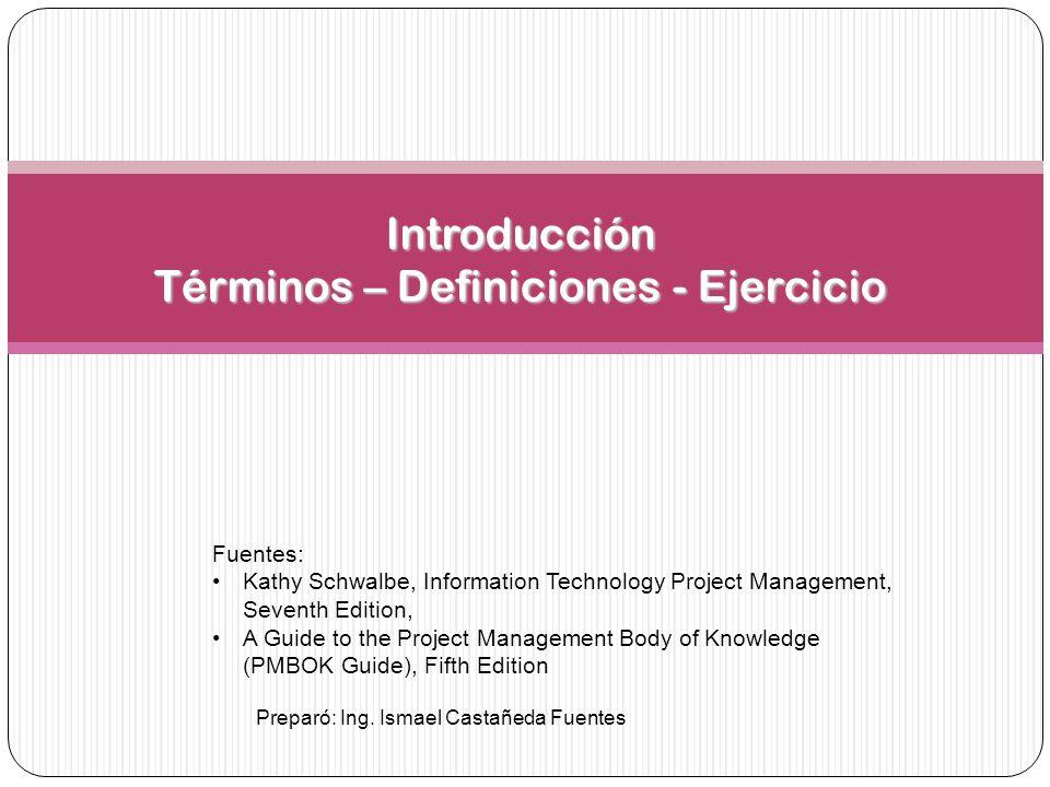 Introducción Términos – Definiciones - Ejercicio