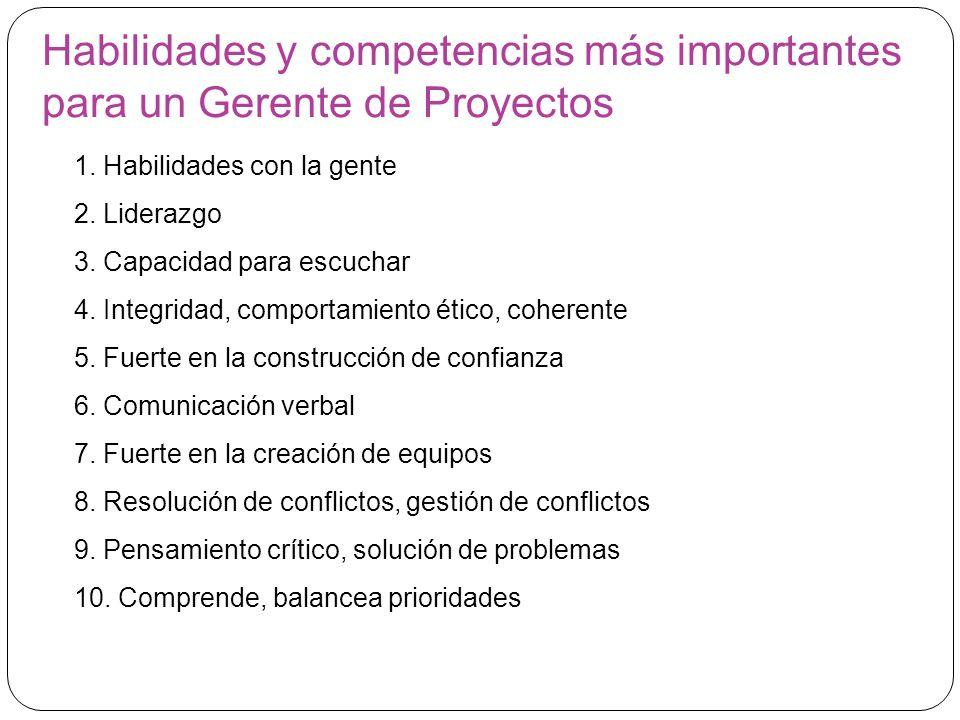 Habilidades y competencias más importantes para un Gerente de Proyectos