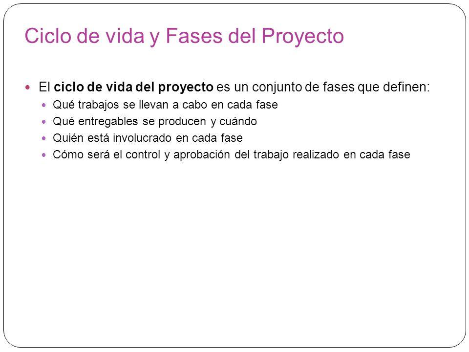 Ciclo de vida y Fases del Proyecto