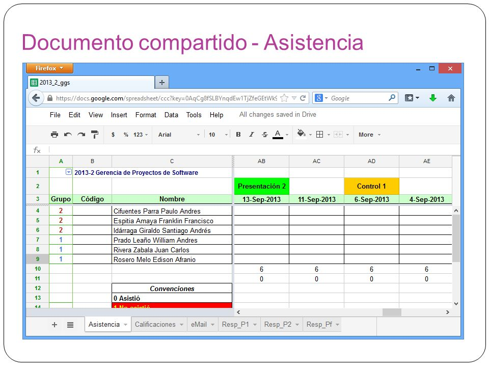 Documento compartido - Asistencia