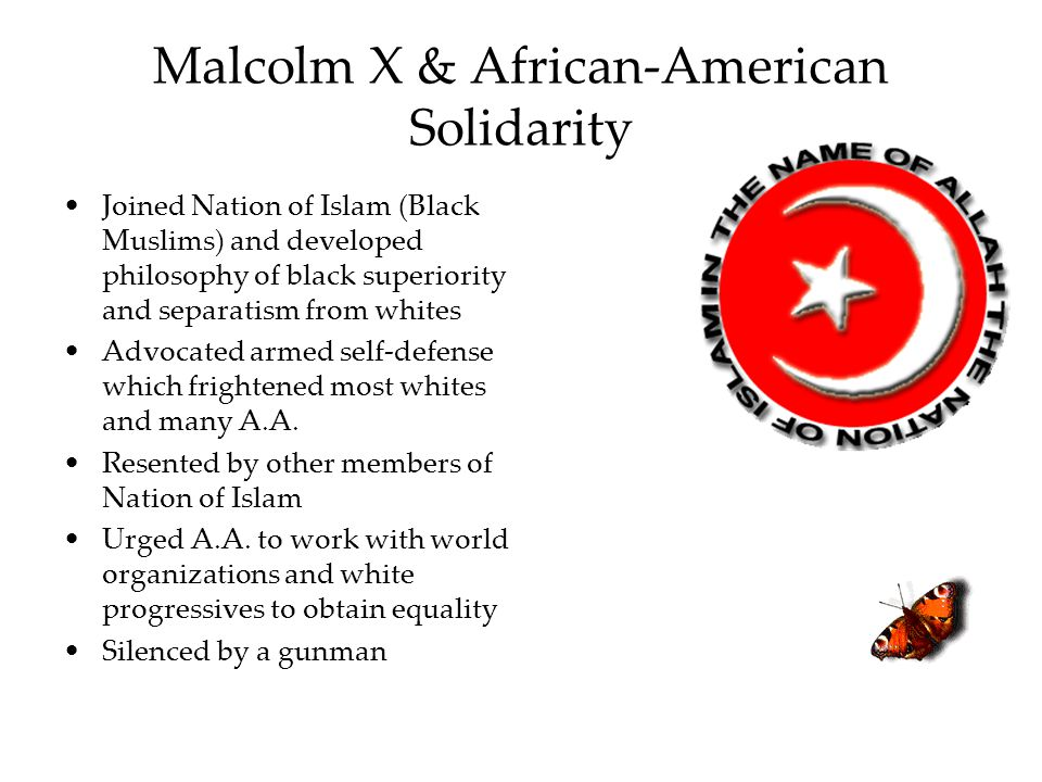 Malcolm X & African-American Solidarity
