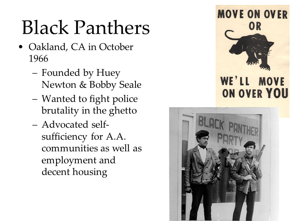 Black Panthers Oakland, CA in October 1966