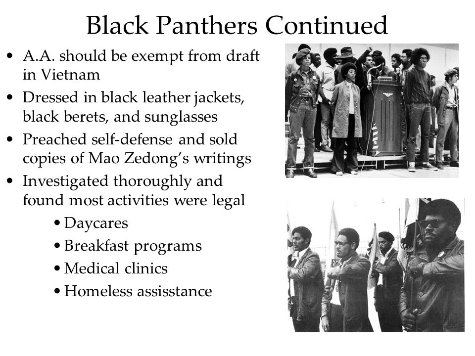 Black Panthers Continued