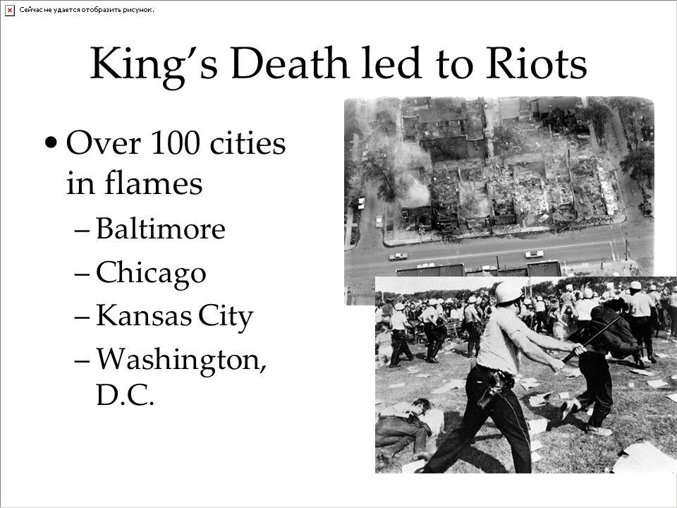 King's Death led to Riots